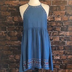 Altar'd State Embroidered Denim Dress